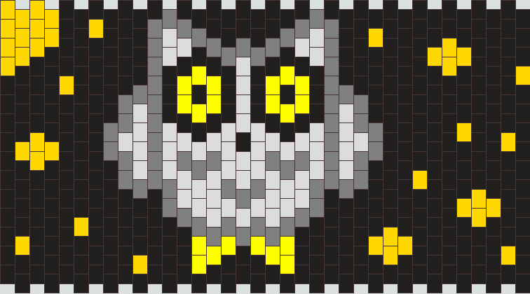 Snow Owl Kandi Pattern