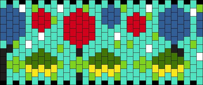 Turtle Parade Kandi Pattern