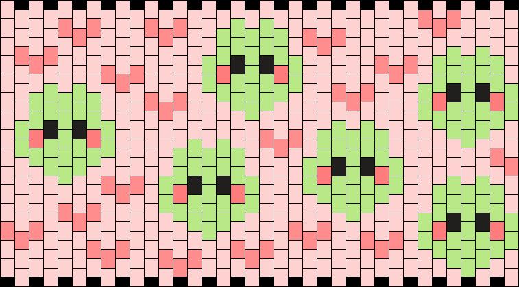 Cute Frog Cuff :3 Kandi Pattern