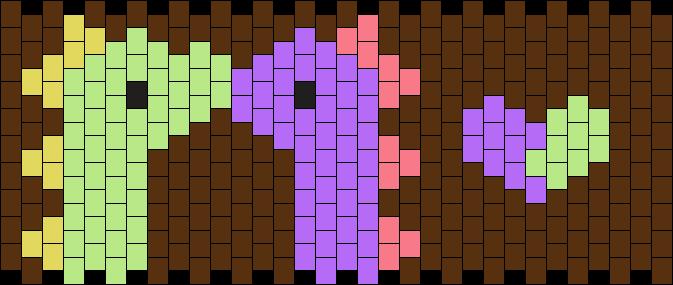 Kissing Dinos <3 Kandi Pattern
