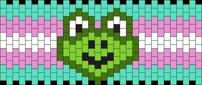 Trans Frog Cuff