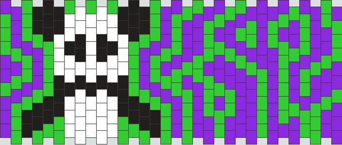 Psychedelic Panda Kandi Pattern