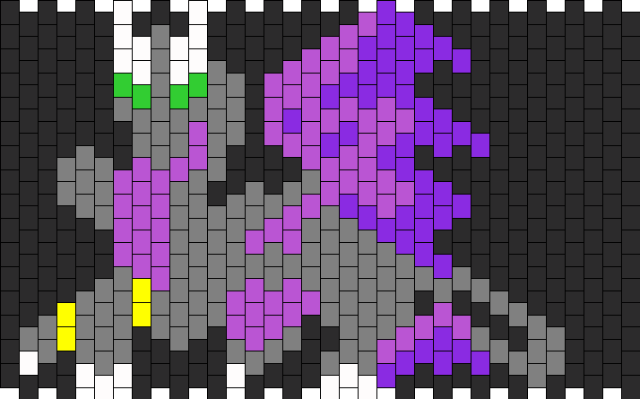 Dark Dragon Kandi Pattern