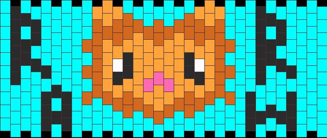 Lion Cuff Kandi Pattern