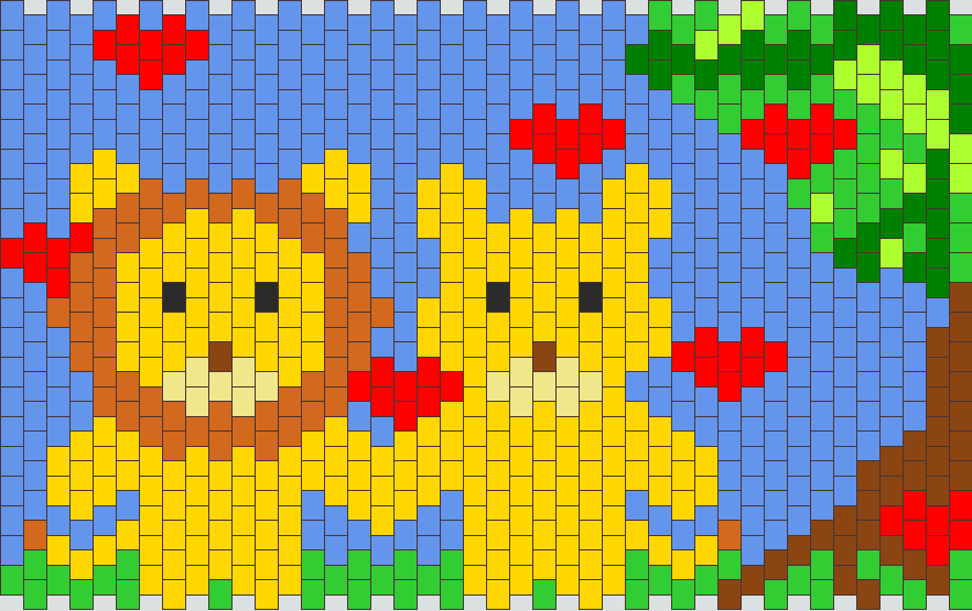 Lion Couple Nekkid Kandi Pattern