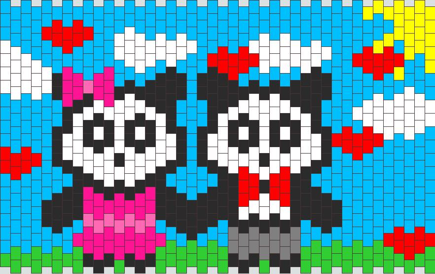 Panda Couple Kandi Pattern