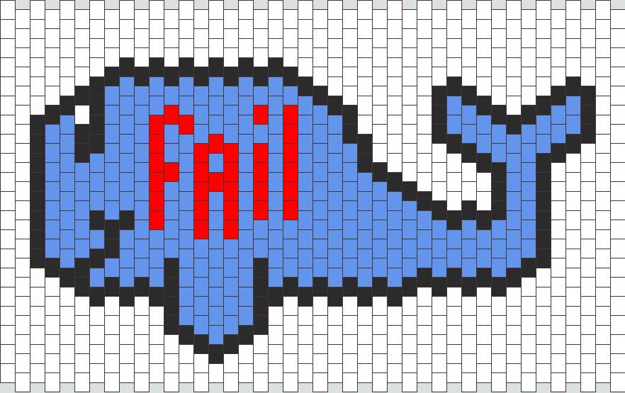 Fail Whale Kandi Pattern