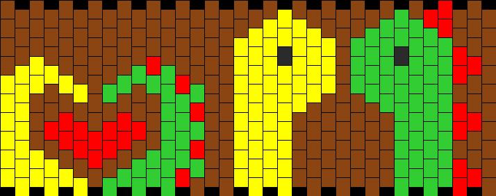 Dinosaur Love Kandi Pattern