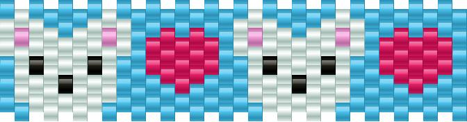 Polarbearfaces Kandi Pattern