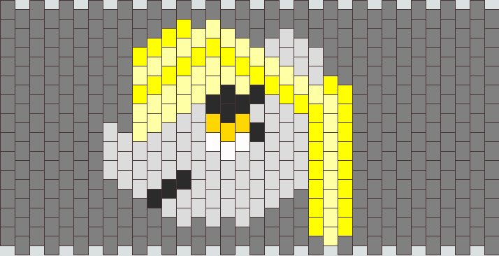 Derpy Hooves Peyote Stitch Head
