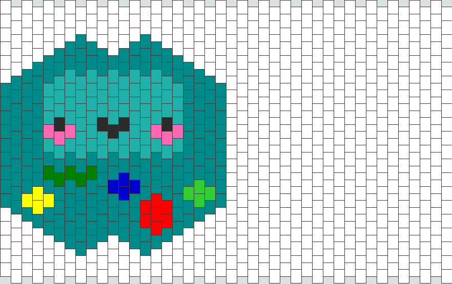 Beemo Mask Bead Pattern