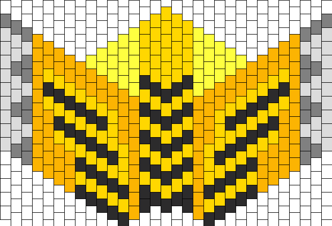 Cyrax Mask Bead Pattern