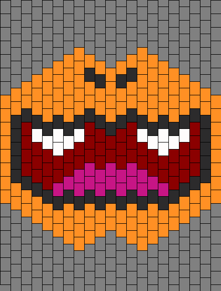 Charmander Mask Bead Pattern