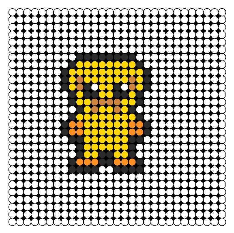 Jake From Adventure Time Perler Bead Pattern / Bead Sprite
