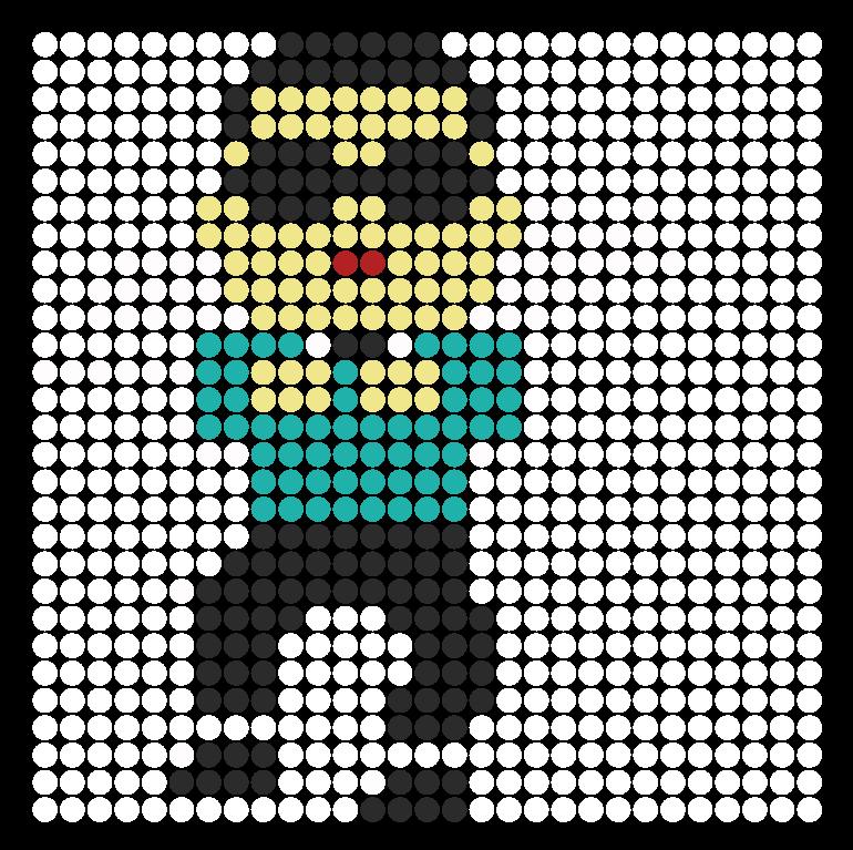 Psy gangnam style perler bead pattern bead sprite