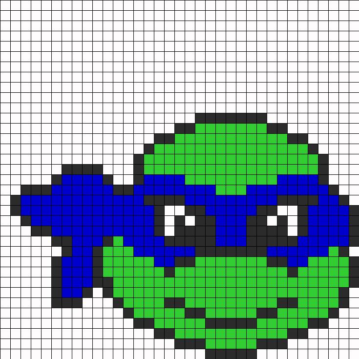 Tmnt Perler Bead Pattern / Bead Sprite