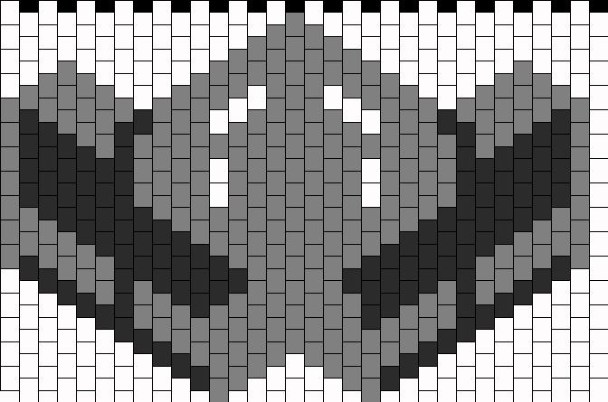 Smoke Mortal Kombat Mask Bead Pattern