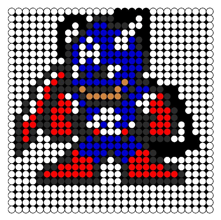 captain america perler bead pattern bead sprites