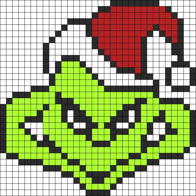 The Grinch Perler