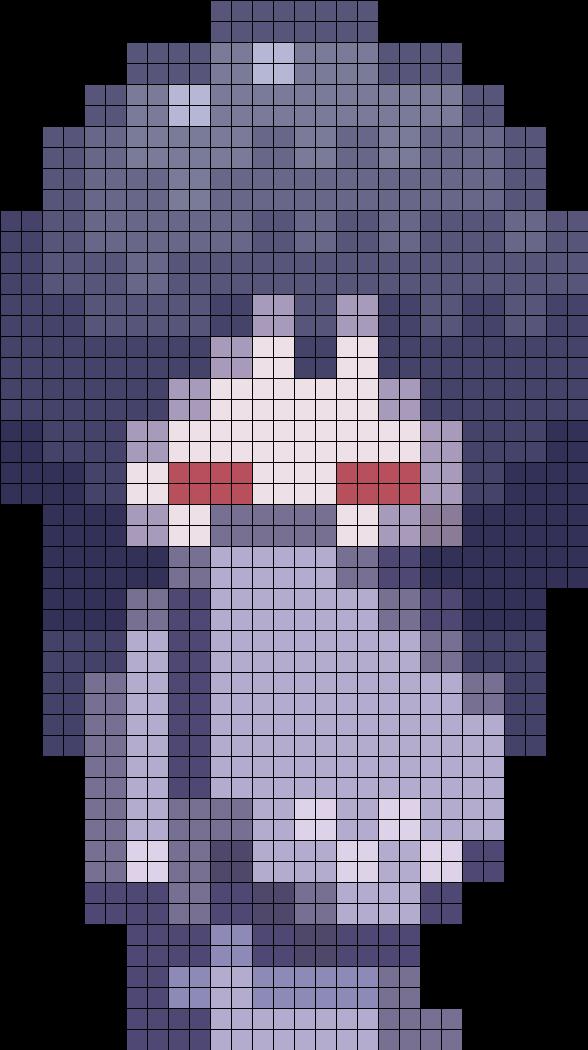 Yuki Onna Sprite Perler Pattern