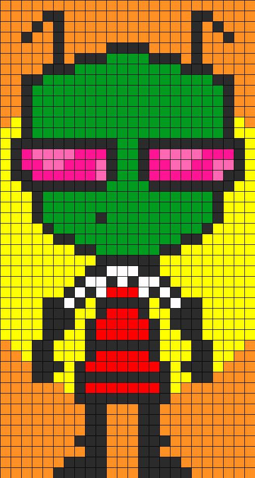 Zim Perler Bead Pattern / Bead Sprite