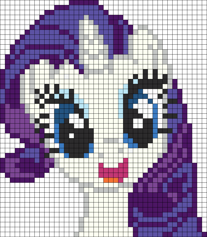 Happy Rarity Perler Bead Pattern / Bead Sprite