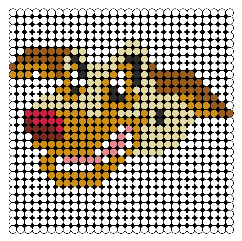 Charlie All Dogs Go To Heaven Perler Bead Pattern / Bead Sprite