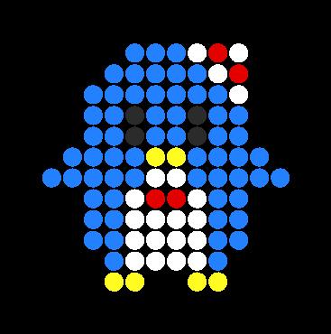 Tuxedo Sam Perler Bead Pattern / Bead Sprite