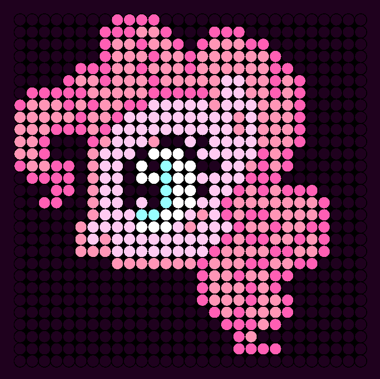 Pinkie Pie Perler Bead Pattern / Bead Sprite