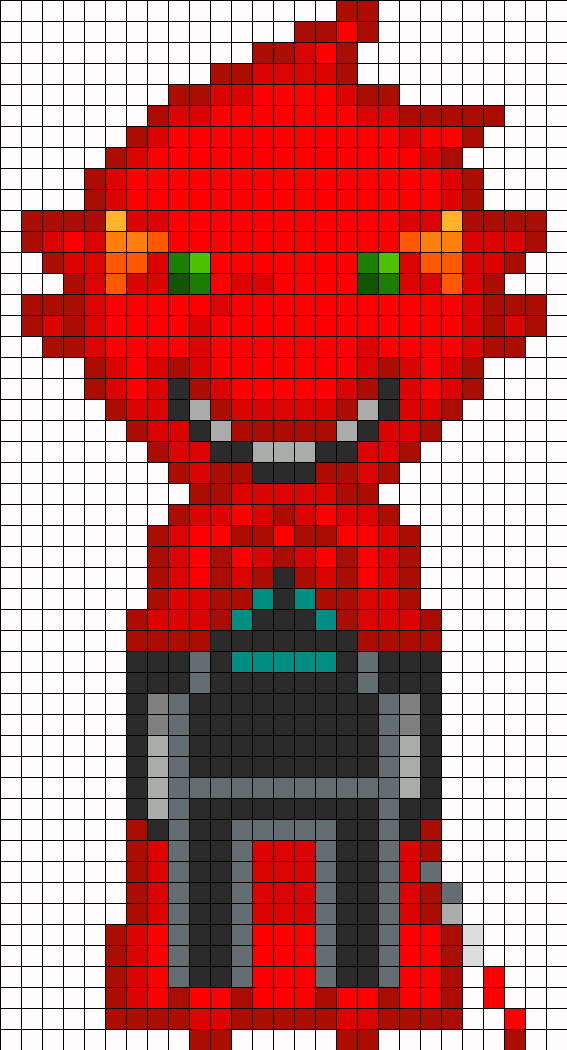 Terezi Pyrope Homestuck Openbound Sprite (Dragon Cape, Hood Up)