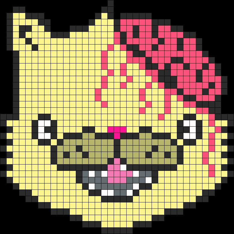 DropDead Kitty Perler Bead Pattern / Bead Sprite
