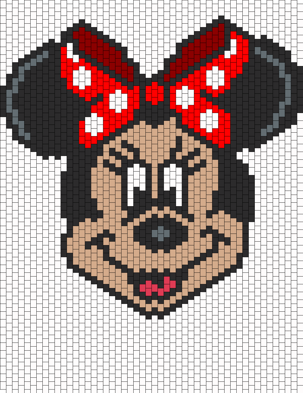 Mickey Mouse Pixel Art minnie mouse bead pattern | peyote bead patterns