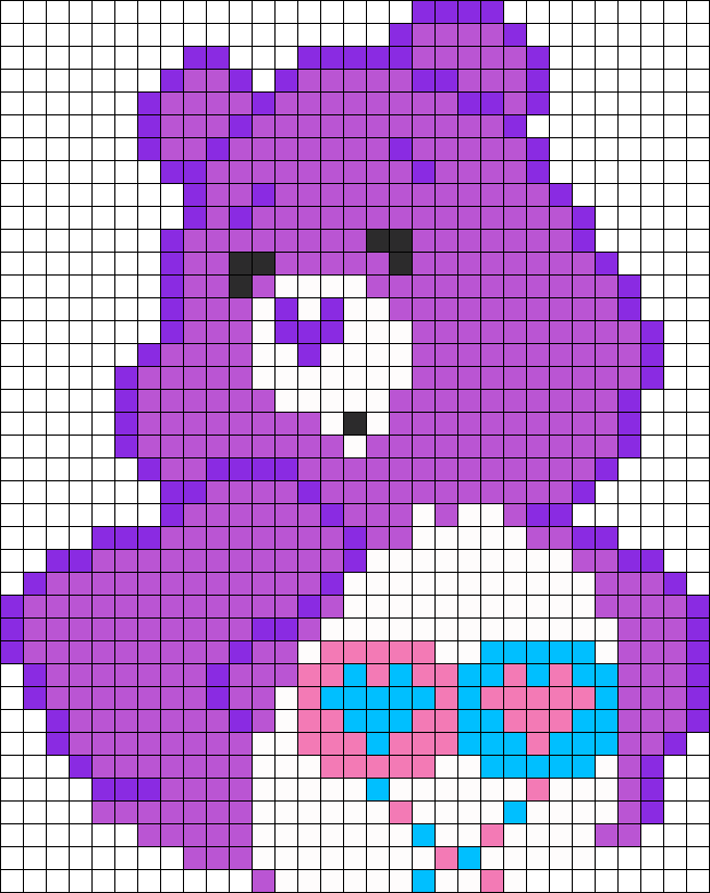 Care Bear Perler Bead Pattern / Bead Sprite