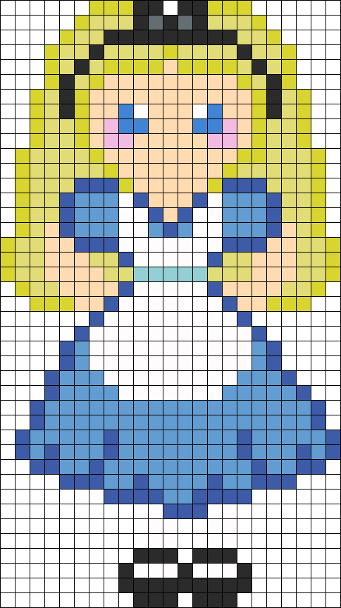 Alice Perler Bead Pattern / Bead Sprite