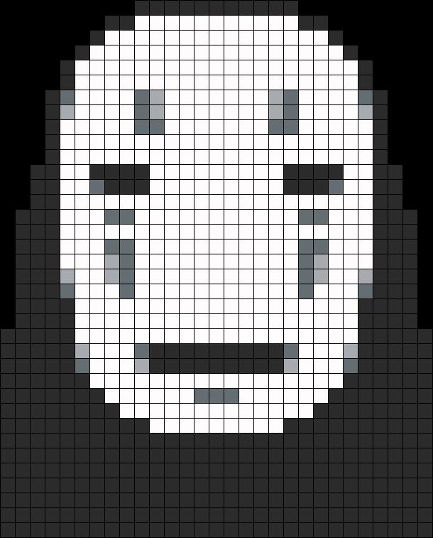No Face Perler Bead Pattern / Bead Sprite