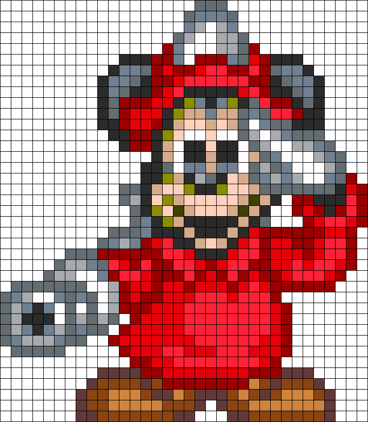 FireFighter Mickey Mouse Perler