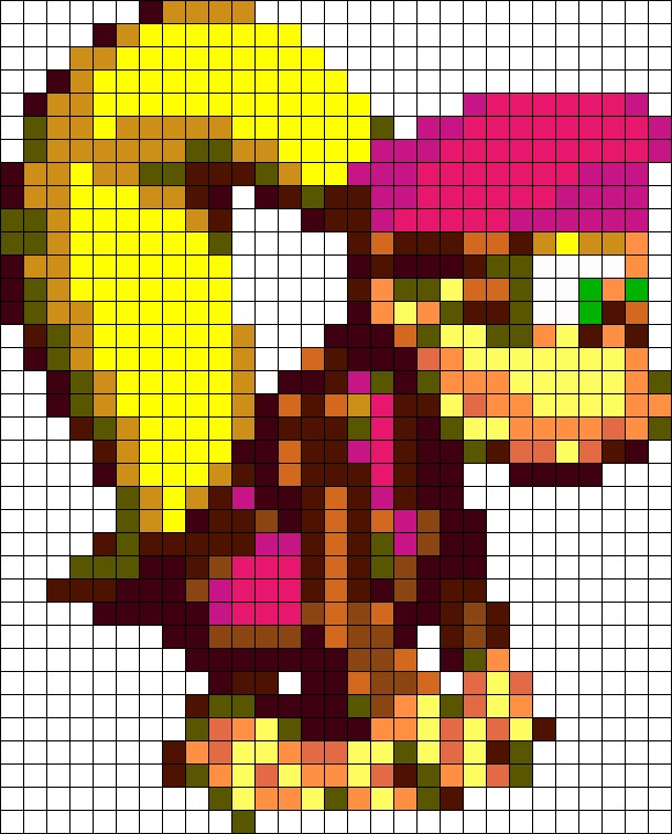 Dixie Kong Perler  Beads Pattern