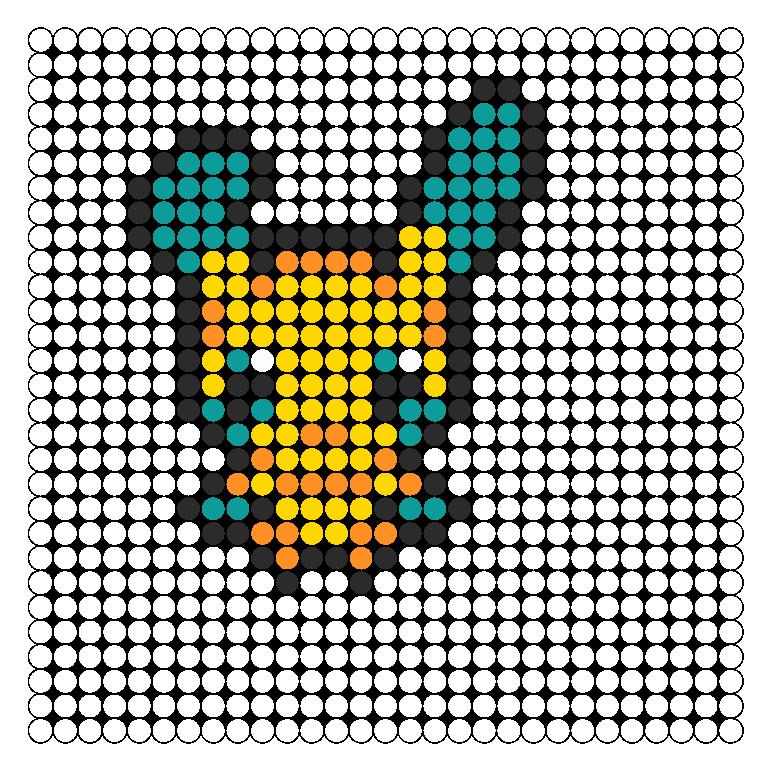 Minun Perler Bead Pattern / Bead Sprite