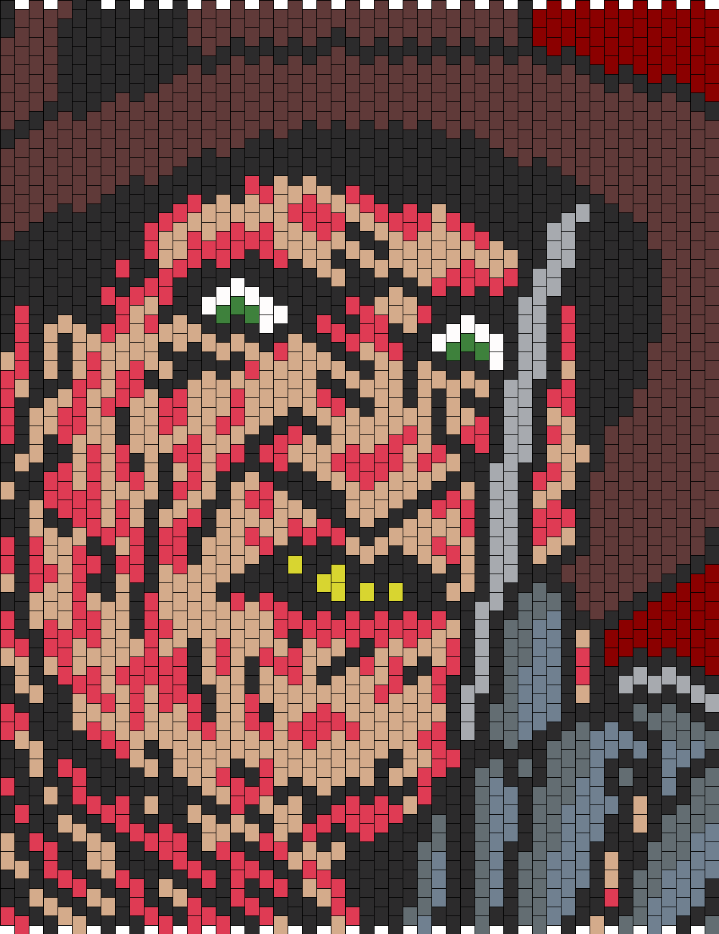 Freddy Krueger Bead Pattern