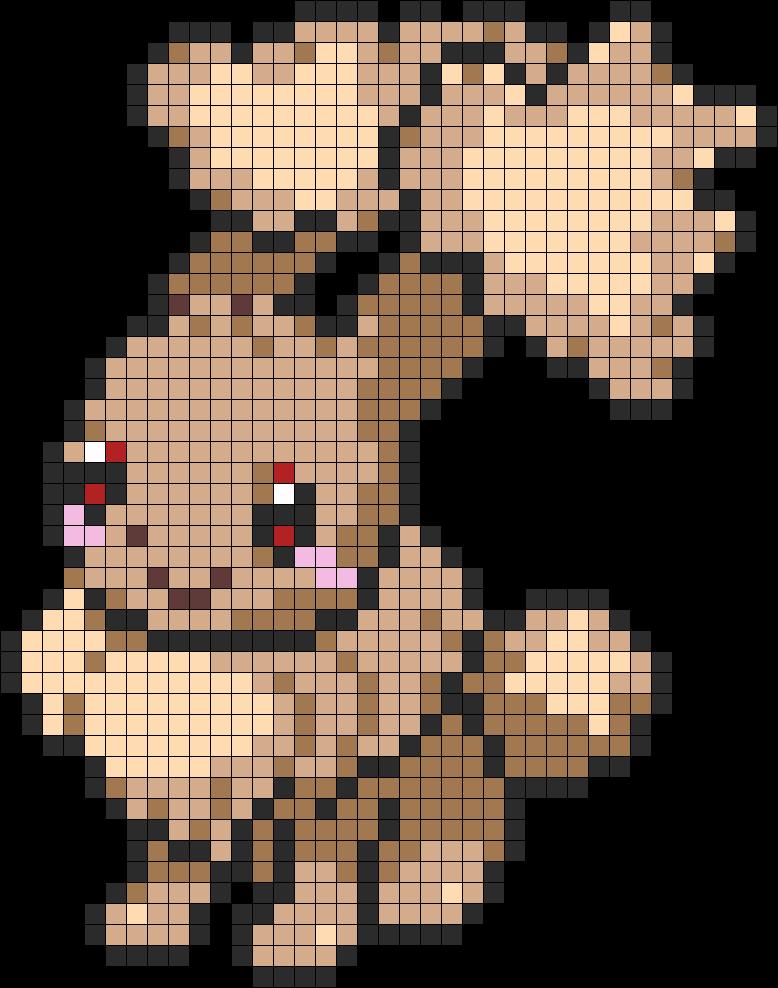 Evee And LoBunny Fusion Perler Perler Bead Pattern / Bead Sprite