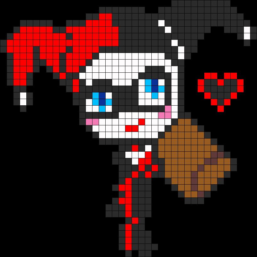 Harley Quinn Perler Pattern