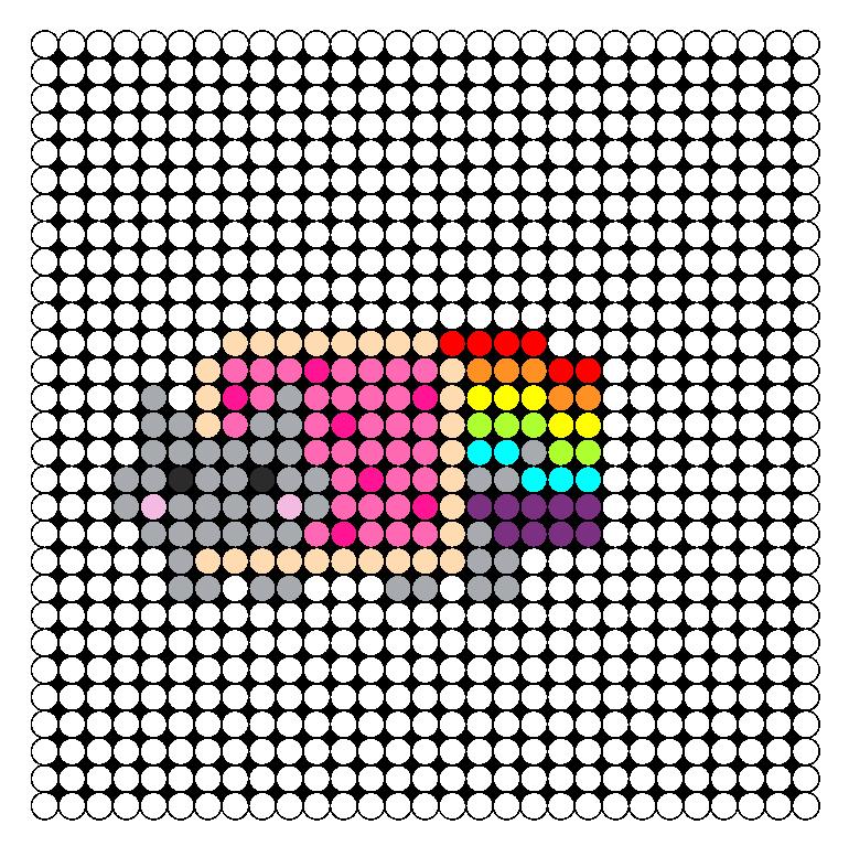 Mini Nyan Cat Perler Bead Pattern / Bead Sprite