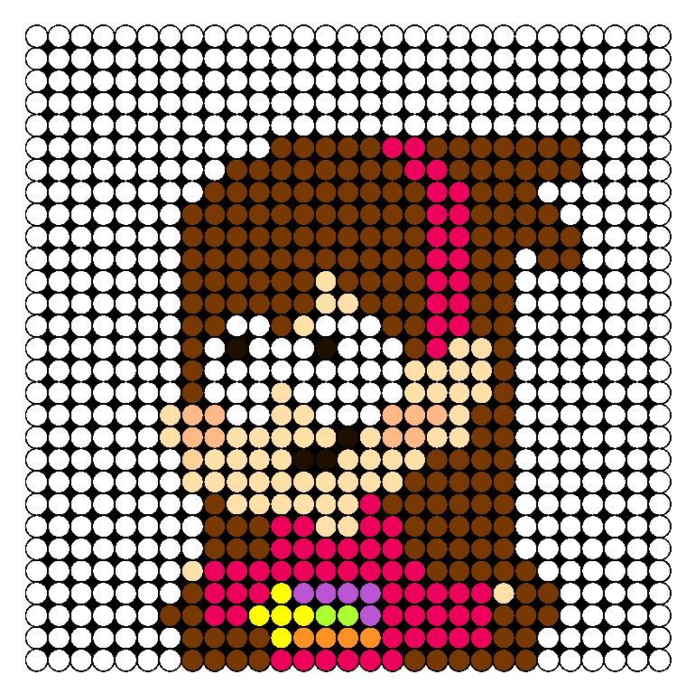 Mabel Pines Perler Bead Pattern / Bead Sprite