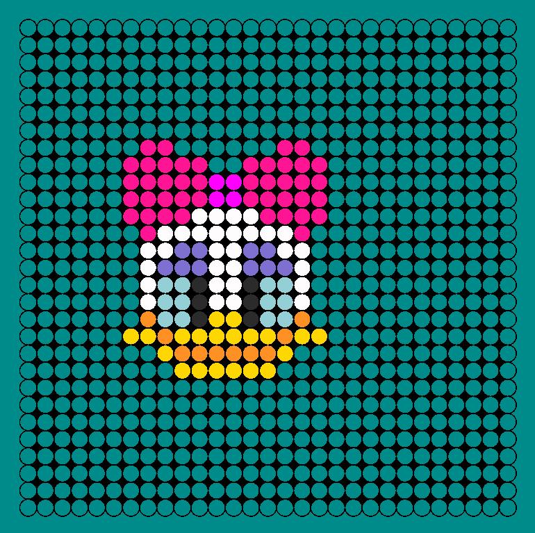 daisy duck perler bead pattern bead sprites characters