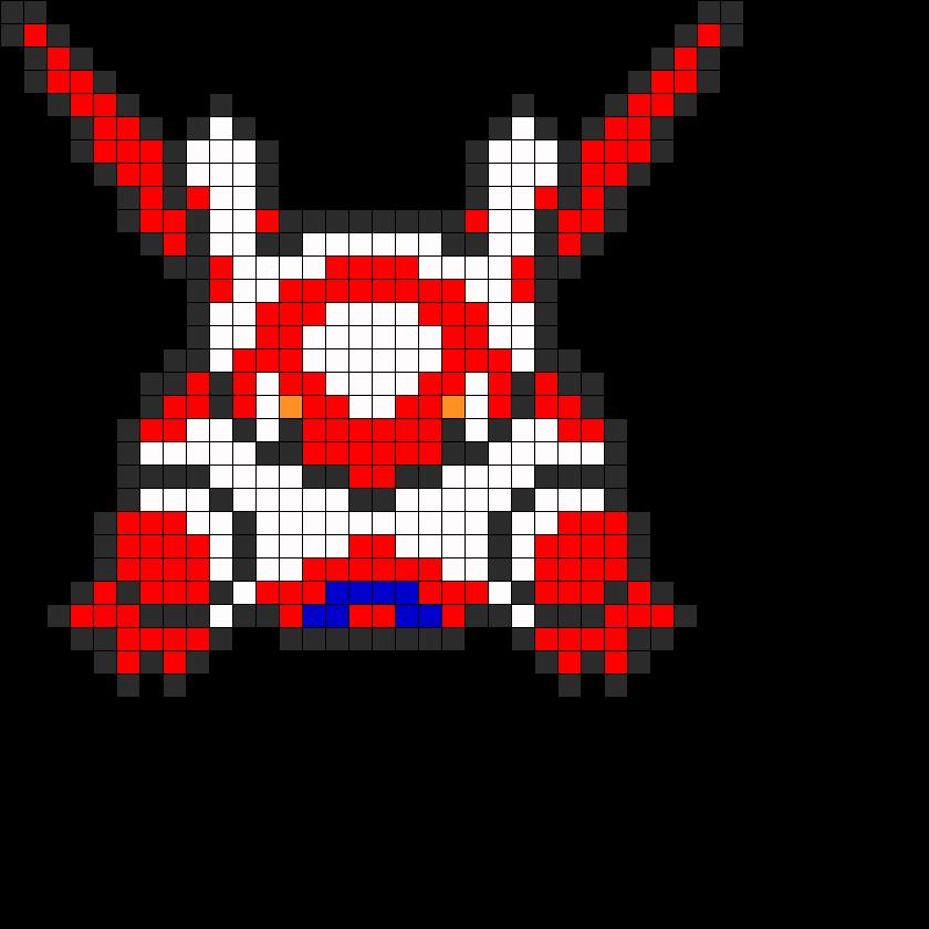 Latias Pokemon Perler Bead Pattern - 13.8KB