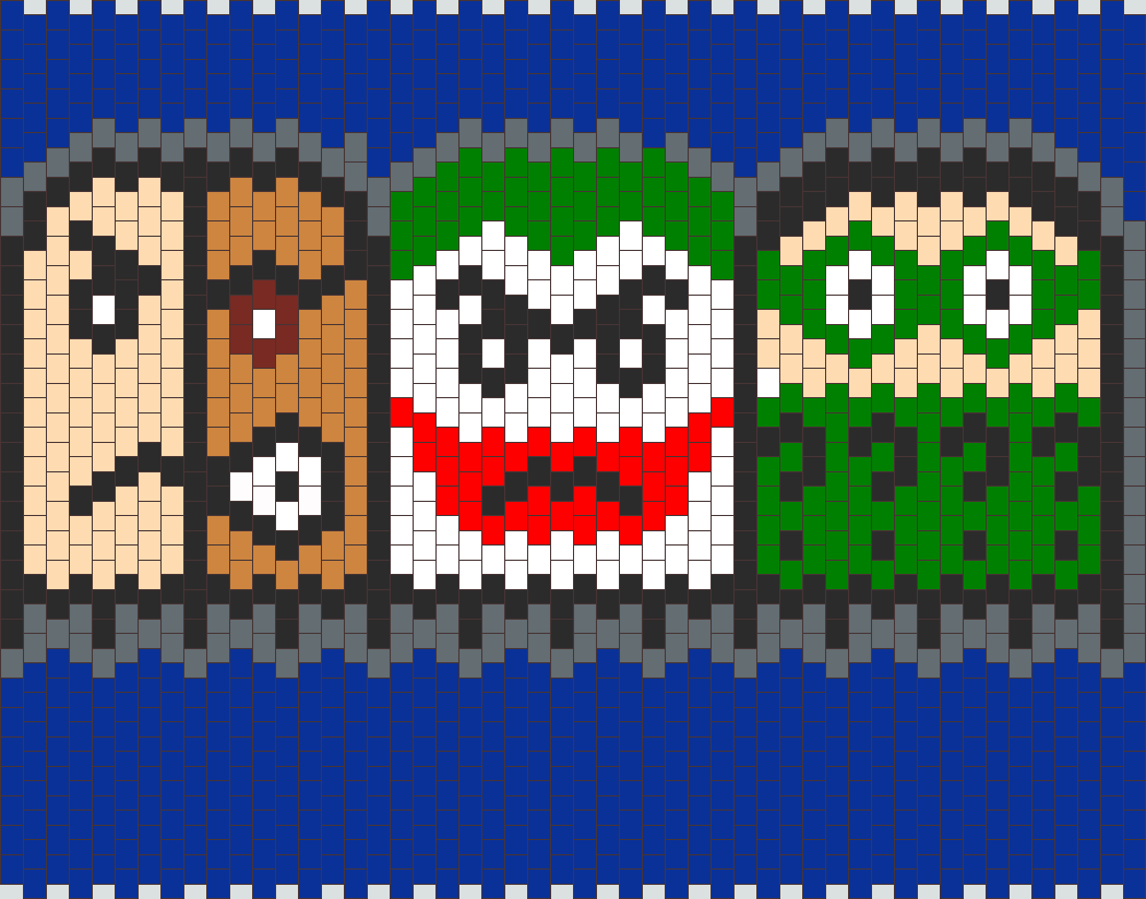 Pacman Ghost Two Face Joker Riddler