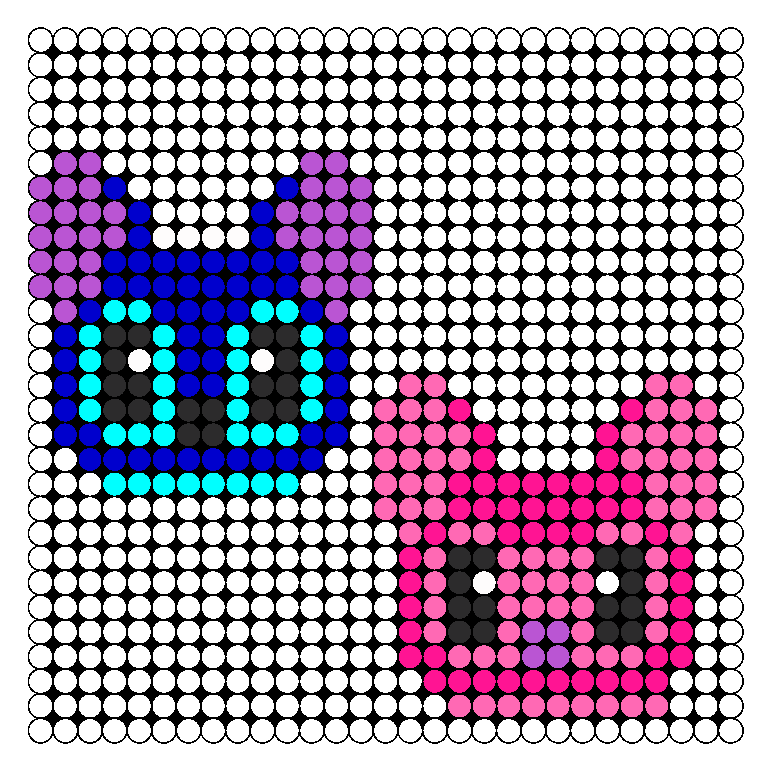 Stitch And Angel Perler Bead Pattern / Bead Sprite