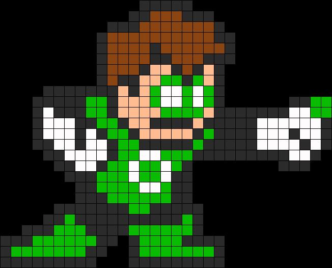 Green Lantern Perler Bead Pattern