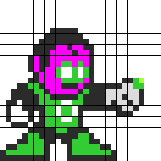 Sinestro Green Lantern Perler Bead Pattern