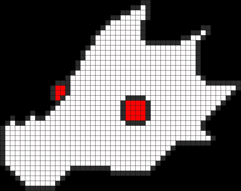 Pyralspite Head Perler Bead Pattern / Bead Sprite